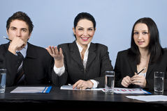Business people at conference Royalty Free Stock Photography
