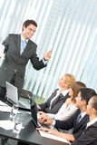 Business people at conference. Business people at business meeting, seminar or conference royalty free stock photo