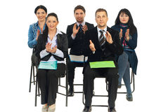 Business people at conference applauding Stock Photography