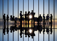 Business People in Conference with Associates Royalty Free Stock Photos