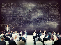 Business People on a Conference About Equations Royalty Free Stock Images