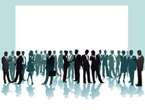 Business people in conference. An illustration of group of people mingling in a conference or a meeting Stock Photography