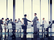 Business People Conference Meeting Handshake Global Concept Royalty Free Stock Images