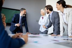 Business people conference and meeting in modern office. Business people work conference and meeting in modern office royalty free stock photo