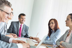 Business people in conference room Royalty Free Stock Photos