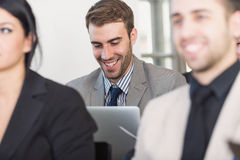 Business people at conference Royalty Free Stock Image
