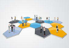 Business people connected Stock Photo