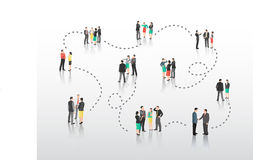 Business people with connecting lines Stock Photography