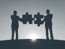 Business People Connection Corporate Jigsaw Stock Photos