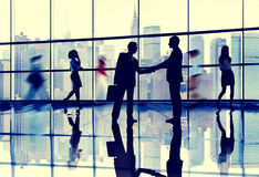 Business People Connection Interaction Handshake Agreement Stock Photography
