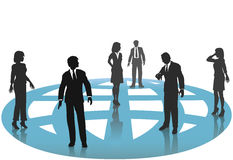 Business People Connections Globe Network Stock Image