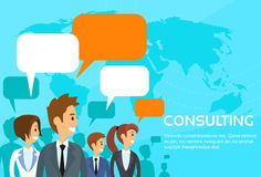 Business People Consulting Group Talking Stock Photo