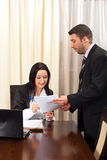 Business people with contract Royalty Free Stock Photography