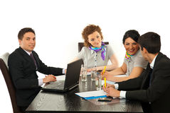 Business people conversation Stock Photography