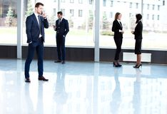 Business People Conversation Communication Talking Royalty Free Stock Images