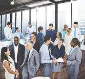 Business People Conversation Communication Talking Team Concept.  Stock Photography