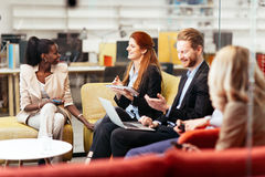 Business people conversation. Technology at hand Royalty Free Stock Photography