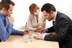 Business people cooperation Stock Photography