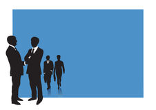 Business people with copy space. Business presentation background for slides with groups af business men and woman -  illustration Royalty Free Stock Images