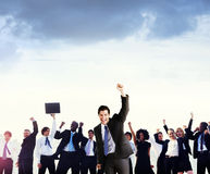Business People Corporate Celebration Success Concept.  Royalty Free Stock Photos