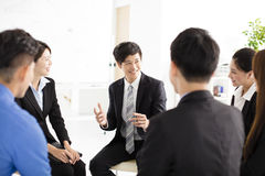 Business People Corporate Communication Meeting in office. Asian Business People Corporate Communication Meeting in office Royalty Free Stock Photography