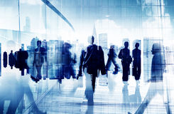 Business People Corporate Commuter Rush Hour City Concept stock illustration