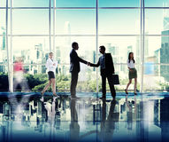 Business People Corporate Connection Greeting Handshake Concept Stock Images