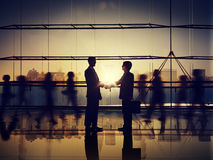Business People Corporate Connection Greeting Handshake Concept Stock Photography