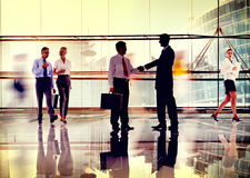 Business People Corporate Connection Greeting Handshake Concept Stock Image