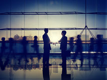 Business People Corporate Connection Greeting Handshake Concept Royalty Free Stock Photos
