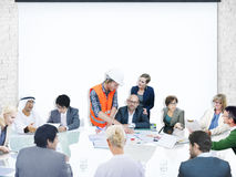 Business People Corporate Meeting Presentation Architect Design Stock Images