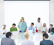 Business People Corporate Meeting Presentation Corporate Diversi Royalty Free Stock Images