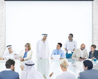 Business People Corporate Meeting Presentation Corporate Diversity Concept Royalty Free Stock Image