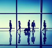 Business People Corporate Office Travelling Concept Stock Image