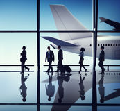 Business People Corporate Travel Airport Concepts Royalty Free Stock Images