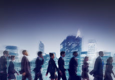 Business People Corporate Travel Walking City Concept Royalty Free Stock Images
