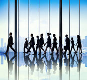 Business People Corporate Travel Walking Office Concept Royalty Free Stock Image
