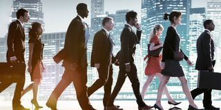 Business People Corporate Walking City Concept Royalty Free Stock Photography