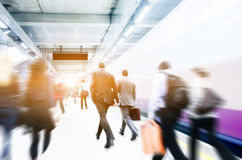 Business People Corporate Walking Commuting City Concept Royalty Free Stock Photography