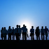 Business People Corporate White Collar Worker Outdoors Concept Royalty Free Stock Photo
