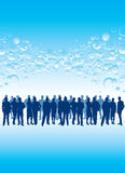 Business people in a crowd Royalty Free Stock Photography