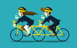 Business people cycling to work. teamwork concept. Stock Images