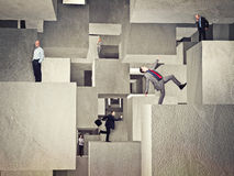 People on cubes Royalty Free Stock Photography