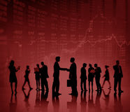 Business People Deal Collaboration Stock Exchange Concept Stock Photos