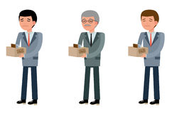 Business people of different ages, they were fired Stock Photo