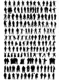 Business people, different silhouettes Stock Photography