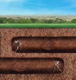 Business people dig tunnels underground Royalty Free Stock Images