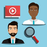 Business people and digital marketing Stock Image