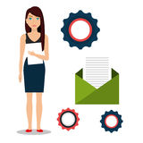 Business people and digital marketing. Graphic design,  illustration Stock Images