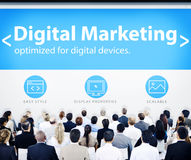 Business People Digital Marketing Seminar Concepts Stock Photo